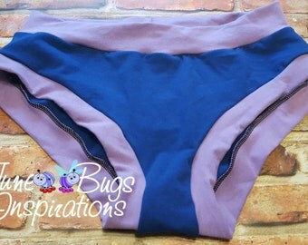 XXS-XXXL Blue & Lilac Bunzies - super booty - custom underwear - cotton panties - Bunzies - Solid Bunzies - solid full coverage bunzies
