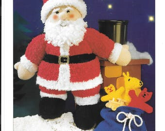 20 inch Father Xmas and sack of toys knitting pattern - PDF