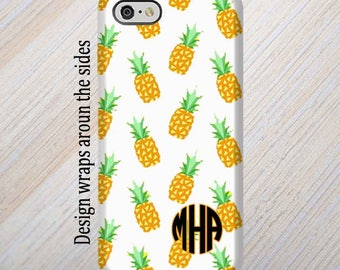 iPhone 8 Case, Monogram, iPhone 6 Case, iPhone 7 Case, iPhone 7 Plus Case, Galaxy S8 Case, Pineapples, iPhone 8 Plus Case Galaxy S7 Case