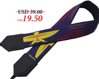 Camera strap inspired by Native Americans. Eagle Camera strap. Dark purple DSLR Camera Strap. Camera accessory by InTePro