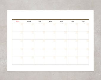 Monthly planner pad / Simple Monthly Scheduler / desk calendar / refill