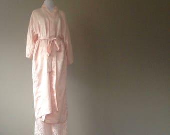 L / Robe & Pajama Sleep Pants Set / Large / Vintage Lingerie by California Dynasty