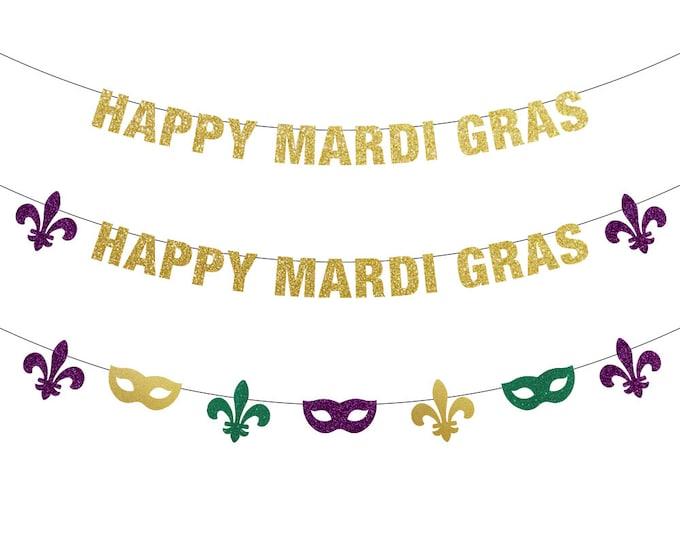 Happy Mardi Gras Banner, Mardi Gras Decorations, Mardi Gras Banner, Mardi Gras Bachelorette, Mardi Gras Backdrop, Fat Tuesday, Mardi Gras