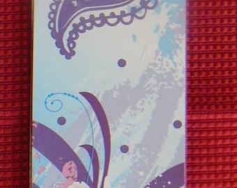 Bookmark, floral theme & cashmere - Dimensions 17 x 5 cm