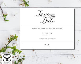 Wedding Invitation | Save the Date | Calligraphy | Wedding Invitation template | Wedding Invitation | Wedding invitation printable