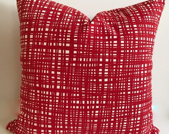 red pillow cover red throw pillow red decorative pillow christmas pillow holiday
