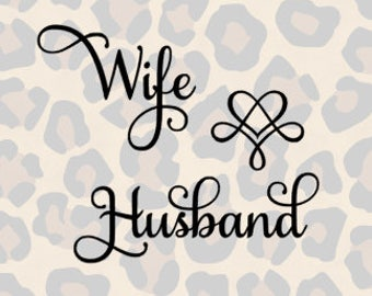 Wife & Husband Samantha Font SVG and Silhouette