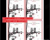 DIY: POSSUM Love and Friendship Valentine // PDF Instant Download