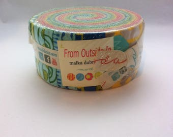 From Outside In by Malka Dubrawsky for Moda OOP Quilt Fabric Jelly Roll