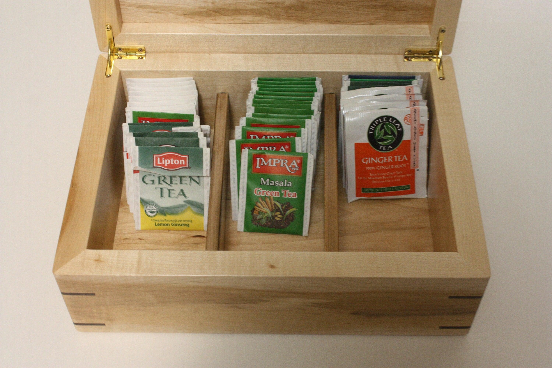 Large Handmade Wood Tea Box For Sale