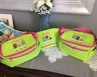 Irish Dancers Quilted Lunch Tote , in 3 stunning Colors!! 3 Irish Dancers embroidery design with name or mongram