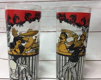 1950 Bar Glasses Set Of Two