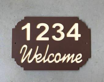 House Number Plaque | Address Sign | House Sign | House Numbers | Street Sign | Address Plaque | Carved Address Sign | Custom Address Sign
