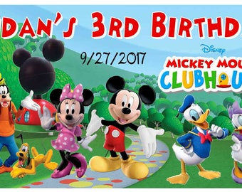 12 MICKEY MOUSE CLUBHOUSE Birthday Party Favors Personalized photo Magnets free shipping