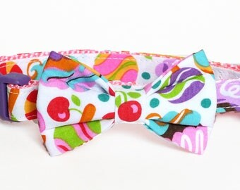 SALE, Size XSmall Ready to Ship Bow Tie ONLY Sweets Dog Bow Tie, heart