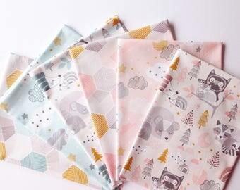 10% OFF - Sweet Dreams- Blend Fabrics - Cotton Fabric Fat Quarter Bundle - 6 Fabrics