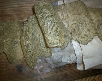 """35"""" metal and silk or cotton lace gold"""