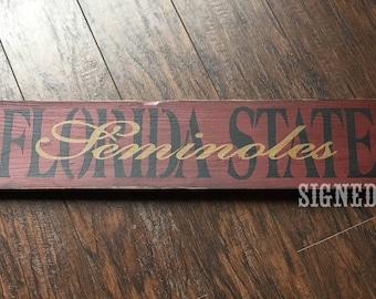 Florida State Seminoles sign