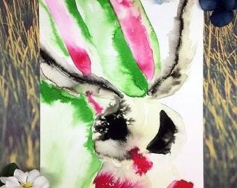 8x10 Abstract Moth Giclee Art Print
