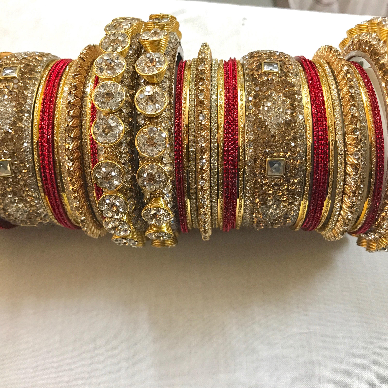 Bangles, gold bangles, red bridal bangles, indian bangles, pakistani ...