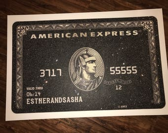 Diamond dusted credit card American Express diamond dusted canvas wall art new home home decor canvas diamond dusted art