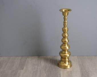 Vintage Candle Stick Brass Holder - 18 inches high