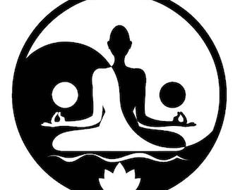 Buddha Yin & Yang Soul Screen Printed T-Shirt