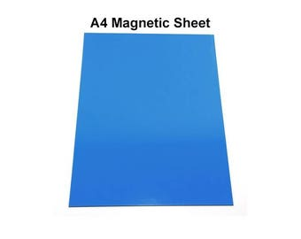 Flexible A4 Magnetic Sheet - Self Adhesive Blue Rubber Magnet - hs137