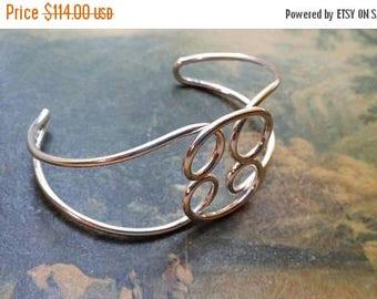 Holiday SALE 85 % OFF Bangle Cuff Bracelet .925 Sterling  Silver