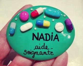 Nurse badge personalized drugs