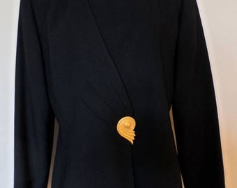 40% OFF Vintage 1980's Black Suit Jacket * Size 8 . KASPER for A.S.L. * Made In Taiwan . Excellent Vintage Condition