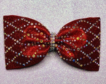 "3"" Glitter and Rhinestone Tailless Cheer Bow"