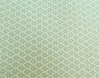 Green patterned 100% cotton fabric