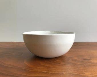 Bennington Potters Bowl #1365E in White by David Gil