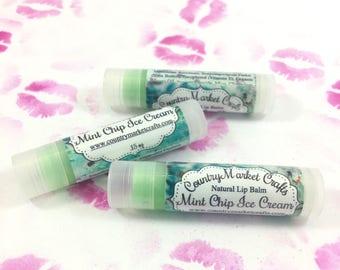 Mint Chip Ice Cream Lip Balm Natural Bees Wax Lip Balm