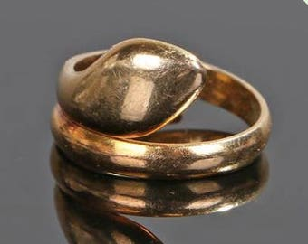 An antique Gold Snake ring