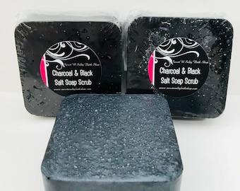 Activated Charcoal & Black Salt Soap Scrub