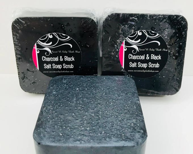 Activated Charcoal & Black Salt Soap Scrub