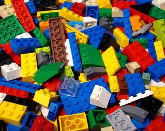 Bulk Lego Lot 100 Basic Legos: Bricks Blocks Plates Slopes Mixed Sizes & Colors