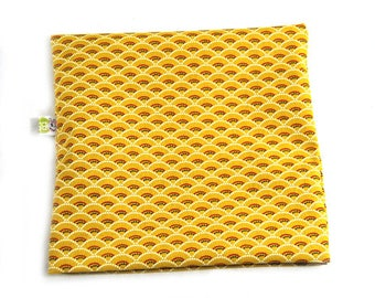 Hot/cold Ponyo yellow Japanese fabric