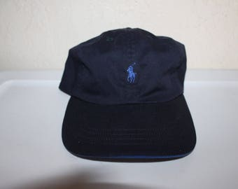 Vintage 90's Polo Ralph Lauren Navy Blue Strapback Dad Hat by Ralph Lauren Golf