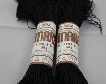 Black Crochet Thread - Mare Kordonet Svila Za Plenenje