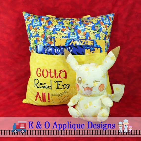 Reading embroidery design book pillow
