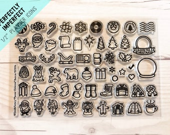 planner stamps, christmas planner stamps, Christmas stamp sets, planner icon stamps, winter planner stamps, Project life, December Daily
