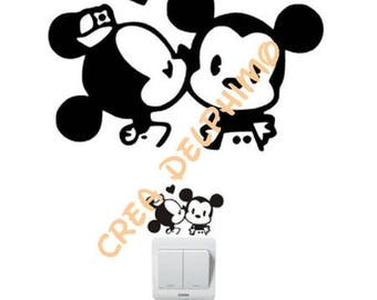 Stiker cache outlet plug mouse cat