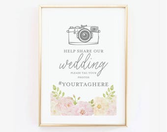 Wedding Social Media Sign, Hashtag Sign, Photo Sign, Oh-Snap Sign, Reception Sign, Instagram Wedding, Canvas or Large Art Print #CL215
