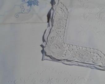Bed pillow vintage linen cotton pillow cases