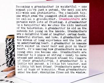 Grandmothers Card; Grandma Card; Nana Card; Granny Card; GC564