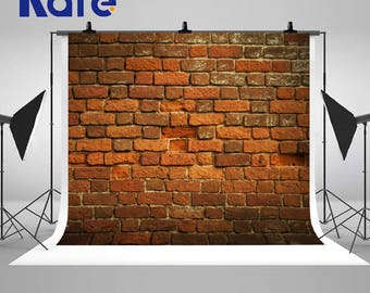 Old Vintage Red Brick Wall Photography Backdrops No Wrinkles Seamless Photo Backgrounds for Wedding Studio Props