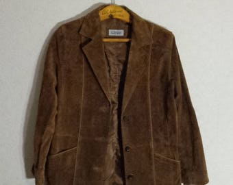 Brown 80's Leather Jacket Classic Womens Spring Autumn Jacket Small-Medium Size